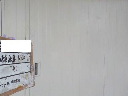 ハンガー扉(鉄扉)塗装錆止め塗装完了