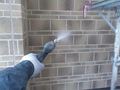 外壁高圧洗浄状況