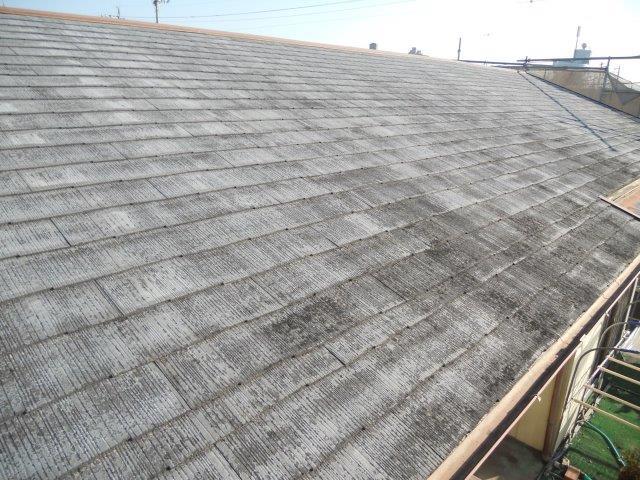 屋根カラーベスト遮熱塗装施工前