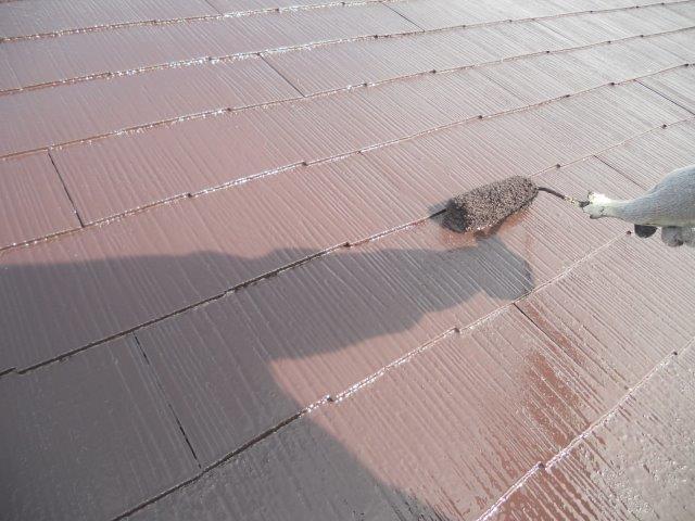 屋根塗装上塗り塗装