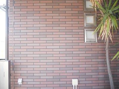 外壁タイル調サイデイングクリヤー塗装施工前