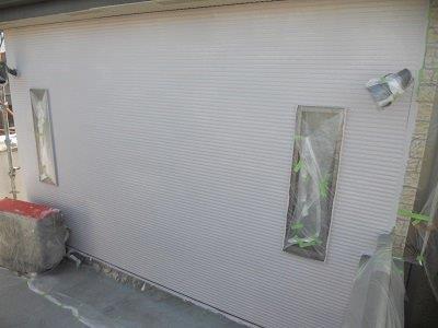 外壁サイディング断熱塗料塗装一層目塗装完了