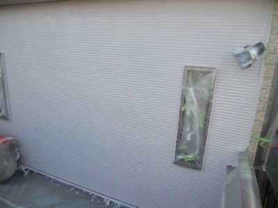 外壁サイディング断熱塗料塗装二層目塗装完了