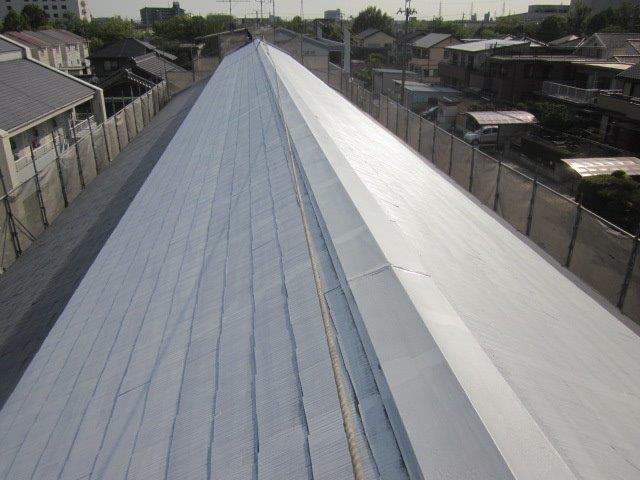 屋根カラーベスト下塗り塗装完了