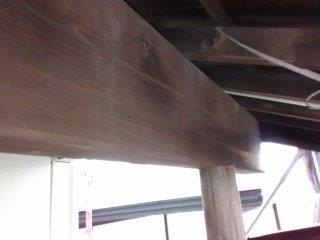 玄関木部塗装施工前