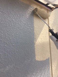 外壁ALC上塗り二層目塗装状況