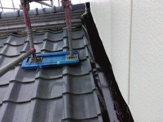 水切り上塗り二層目塗装完了
