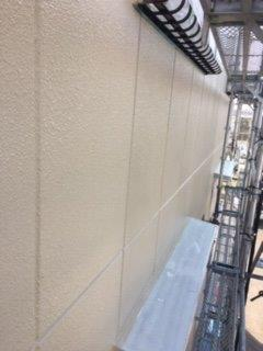 外壁ALC上塗り二層目塗装完了
