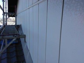 金属サイディング塗装高圧洗浄完了