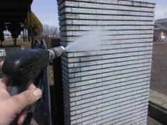 塀高圧洗浄