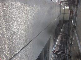 外壁モルタル塗装前高圧洗浄完了