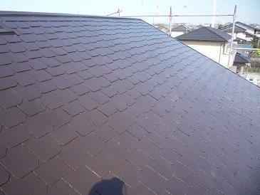 屋根塗装遮熱フッ素塗料二層目塗装完了