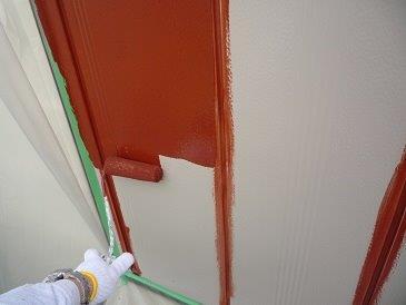 雨戸塗装錆止め塗装状況