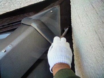 水切り板金上塗り二層目塗装状況