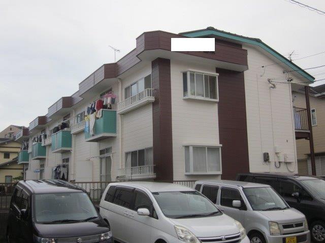 愛知県 名古屋市 港区 Sアパート屋根塗装工事(遮熱シリコン塗料)外壁塗装工事(溶剤シリコン塗料)