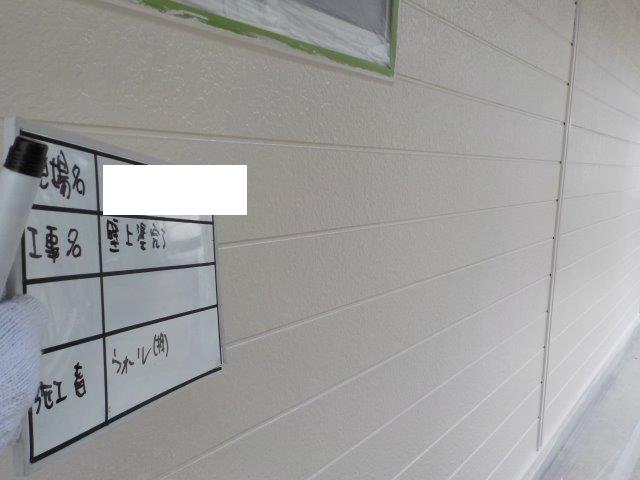 外壁サイデイング溶剤シリコン塗装上塗り二層目塗装完了