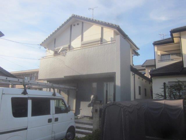 愛知県 海部郡 蟹江町 F様邸 外壁塗装工事(キルコ断熱塗料)