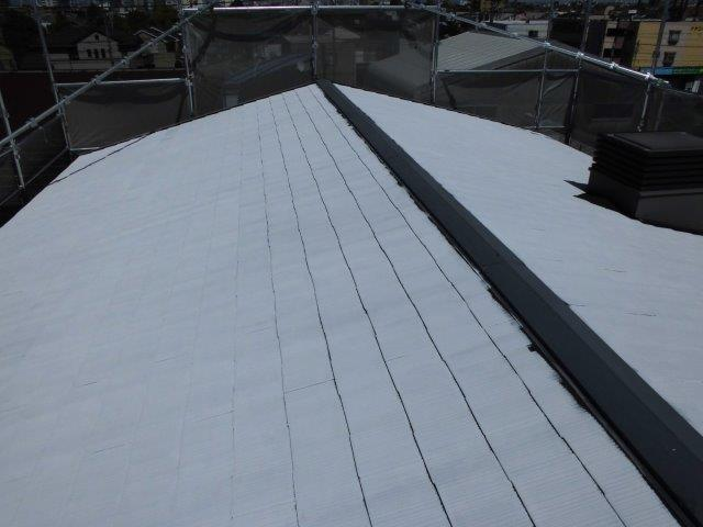 屋根カラーベストキルコ遮断熱塗料塗装二層目塗装完了