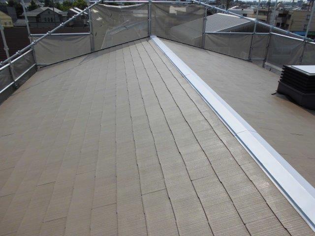 屋根カラーベストキルコ遮断熱塗料塗装三層目塗装完了