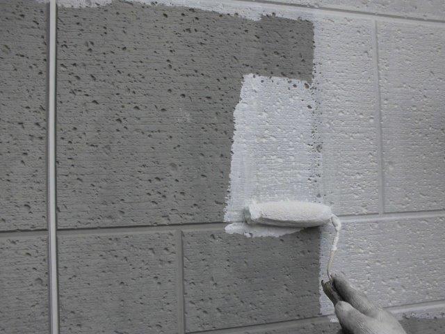 外壁ALCキルコ断熱塗料塗装下塗り塗装状況