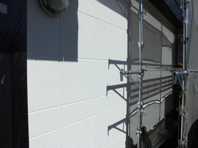 外壁ALCキルコ断熱塗料塗装トップコート塗装完了