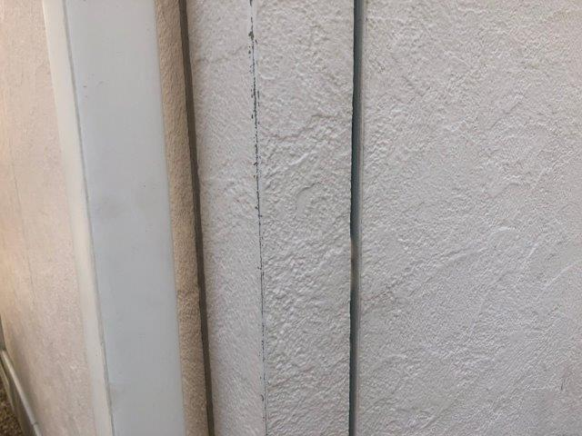 外壁サイディング目地既存コーキング撤去完了