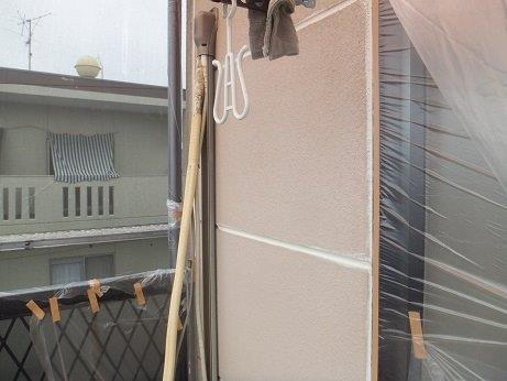 外壁ALCフッ素塗料塗装下塗り一層目塗装完了
