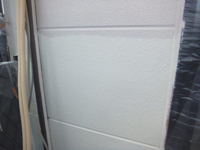 外壁ALCフッ素塗料塗装下塗り二層目塗装完了