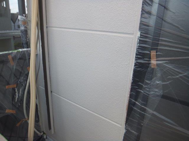 外壁ALCフッ素塗料塗装上塗り二層目塗装完了