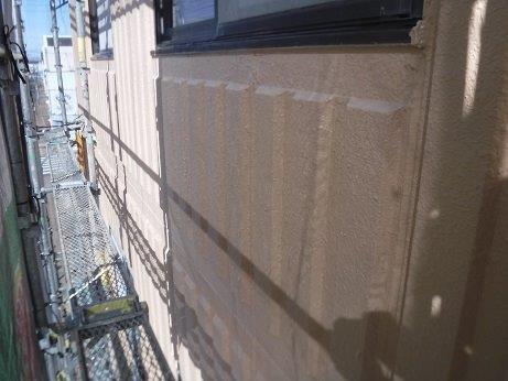 外壁ALCキルコ断熱塗料塗装下塗り塗装完了