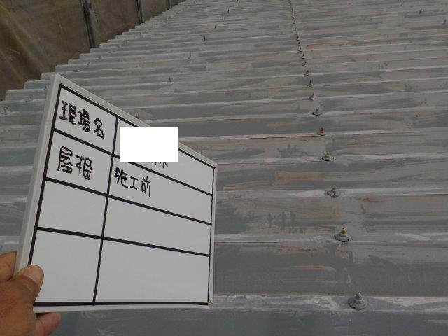 折半屋根塗装施工前