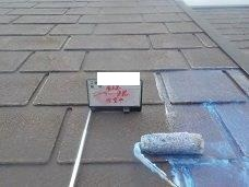 屋根断熱塗料下塗り塗装状況