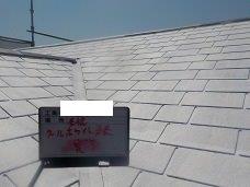 屋根断熱塗料一層目塗装完了