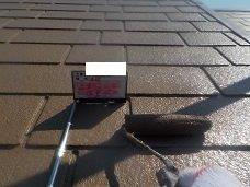 屋根遮熱塗料二層目塗装状況