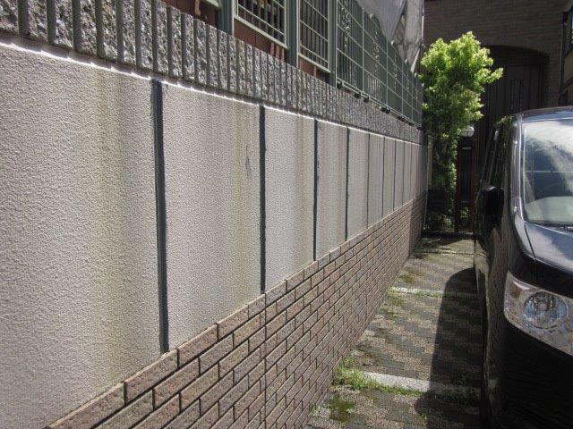 外塀塗装下塗り塗装完了