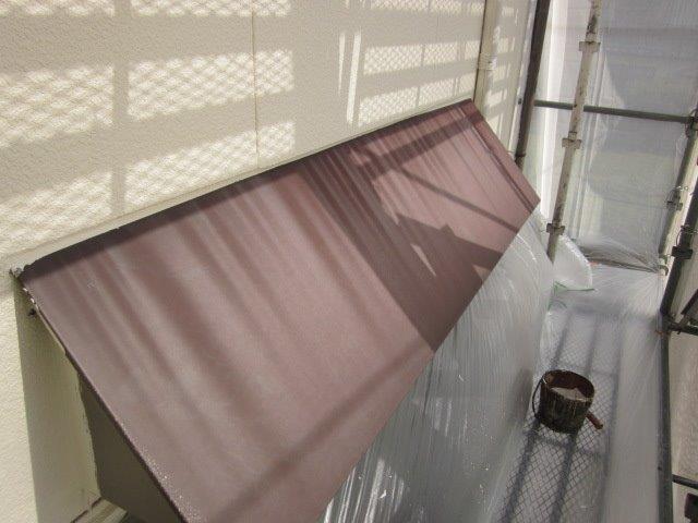 外壁付帯部庇塗装施工前