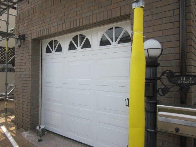 車庫鉄扉塗装上塗り二層目塗装完了
