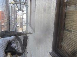 外壁ALC塗装前高圧洗浄