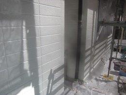 外壁ALCキルコ断熱塗料下塗り塗装完了