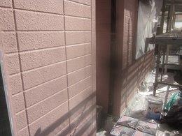 外壁ALCキルコ断熱塗料一層目塗装完了
