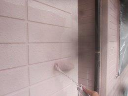 外壁ALCキルコ断熱塗料二層目塗装状況