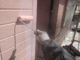 外壁ALCキルコ断熱塗料トップコート塗装状況