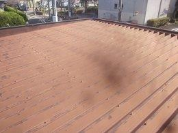 車庫折板屋根塗装施工前