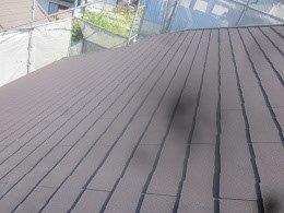 屋根遮熱フッ素塗料塗装施工前