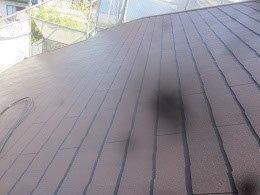屋根遮熱フッ素塗料塗装前高圧洗浄完了