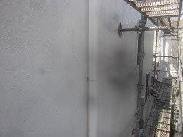 外壁サイディング塗装前高圧洗浄完了