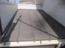 板金屋根遮熱フッ素塗料塗装施工前