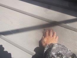 板金屋根遮熱フッ素塗料塗装前素地調整状況