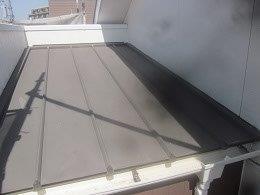 板金屋根遮熱フッ素塗料塗装素地調整完了