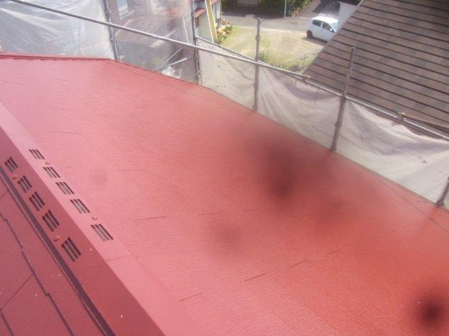 屋根遮熱フッ素塗料塗装完了